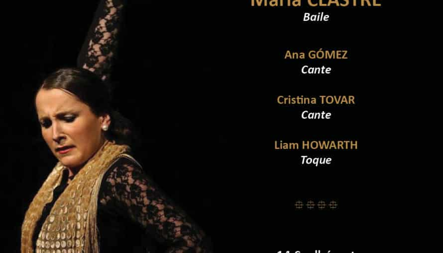 spectacle flamenco bordeaux : affiche tablao Maria Clastre